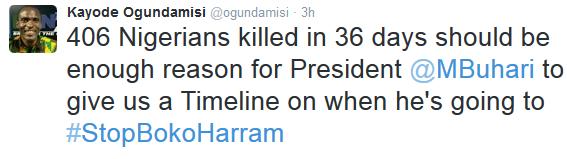 Boko Haram: President Buhari we are tired of 'I will!' - Kayode Ogundamisi