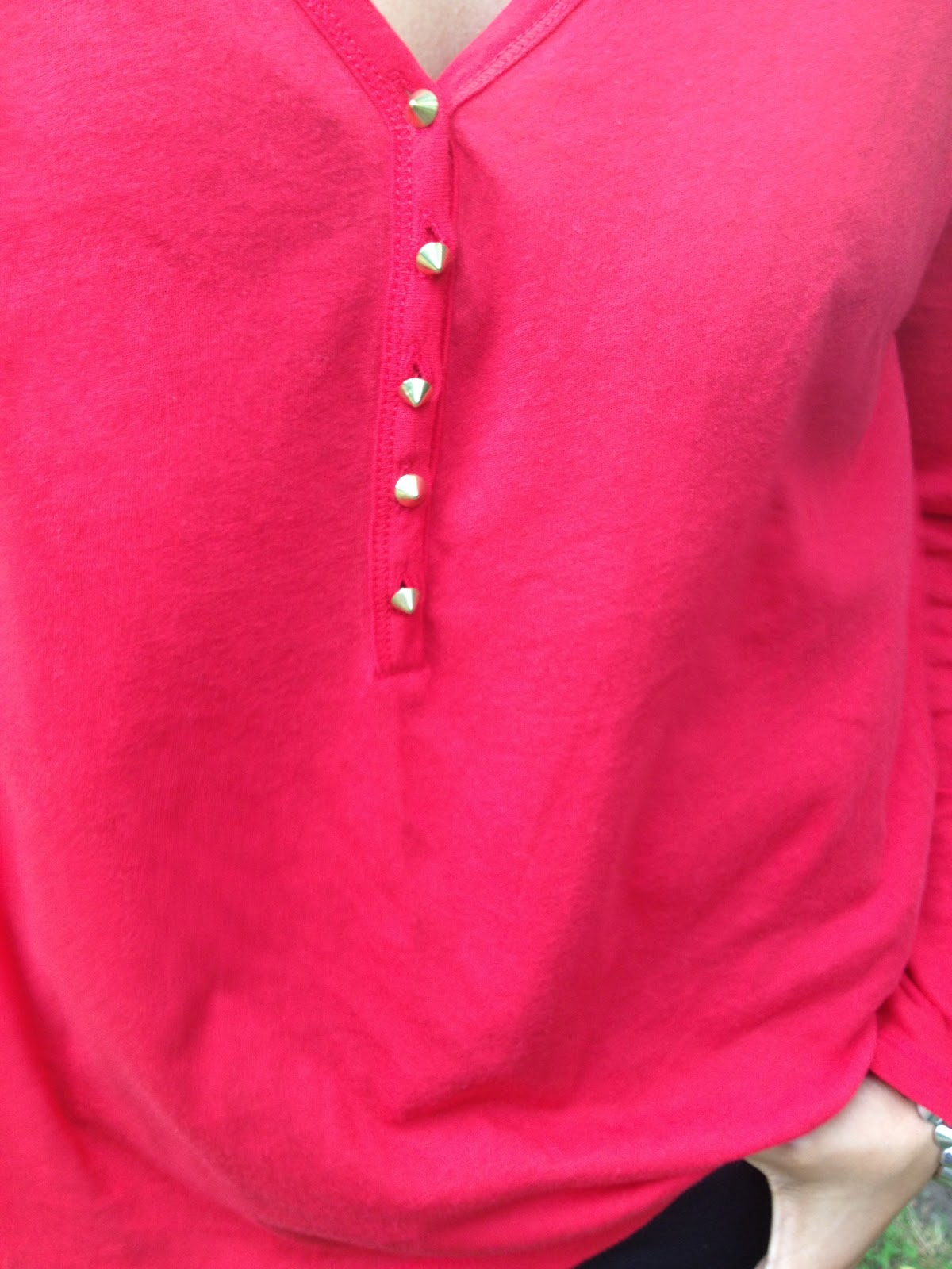 Red Spike button top from Zara