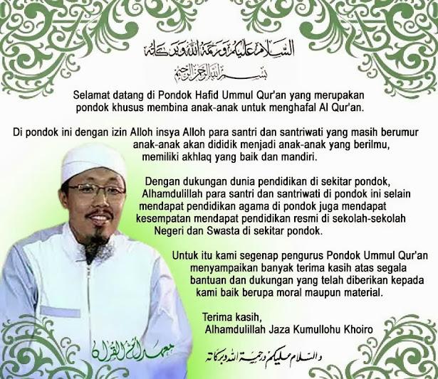 Selamat Datang Di Pondok Ummul Qur'an