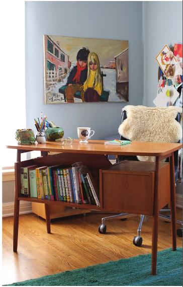 sleek and colourful retro interior design ideas amazing retro home office design