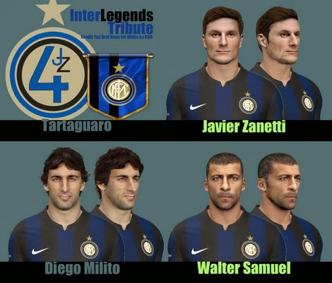 PES 2014 FacePack Inter Legends Tribute by TARTAGUARO