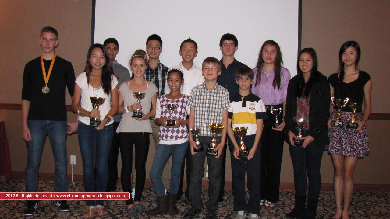 Coquitlam Tennis Club Junior Program 2016: October 2012