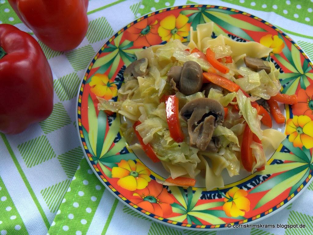 Rezept, Kochen, Tim Mälzer, Spitzkohl, vegetarisch, braune Champignons