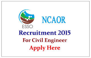 National Centre for Antarctic & Ocean Research Recruitment 2015 for the post of Civil Engineers