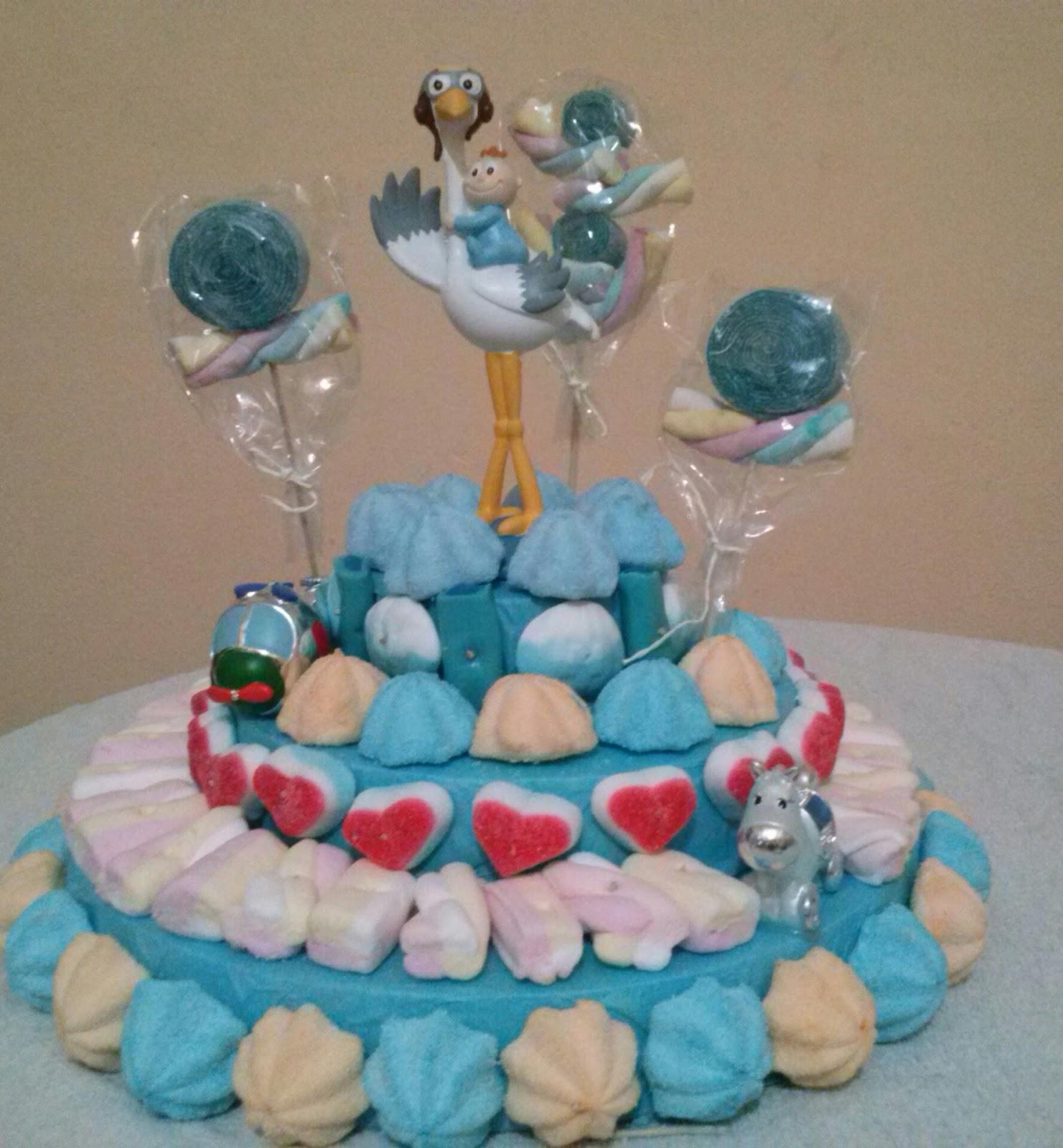 El rinc n cartame o de ana tarta de chuches para bautizo - Mesa de chuches para bautizo ...