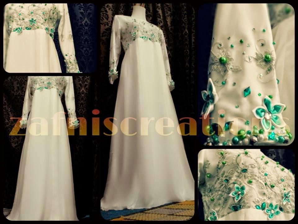 ... ZAFNIS CREATIONS...: Dress jubah dan baju Pengantin Muslimah...2014