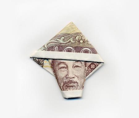 Folded Paper Money