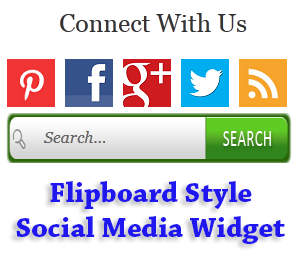 Flipboard+Style+Social+Media+Widget