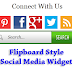 Flipboard Style Social Media Widget For Blogger
