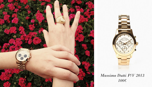 Foto de Reloj dorado de Massimo Dutti P/V 2012 y P/V 2013