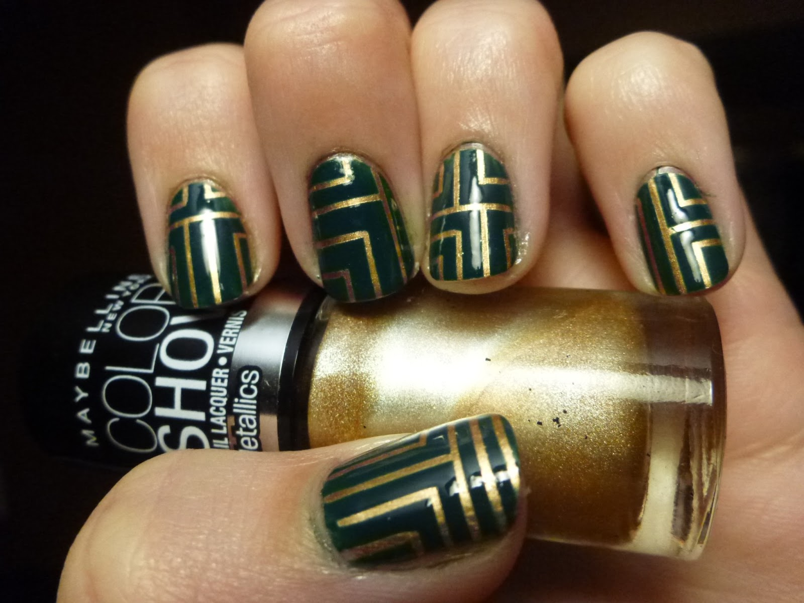 Adventures In Manicures Circuit Board Nails Tape I Finished The First Nail And Realized That Had Accidentally Done It Was Completely Unintentionally But Think Its A Cool Look So