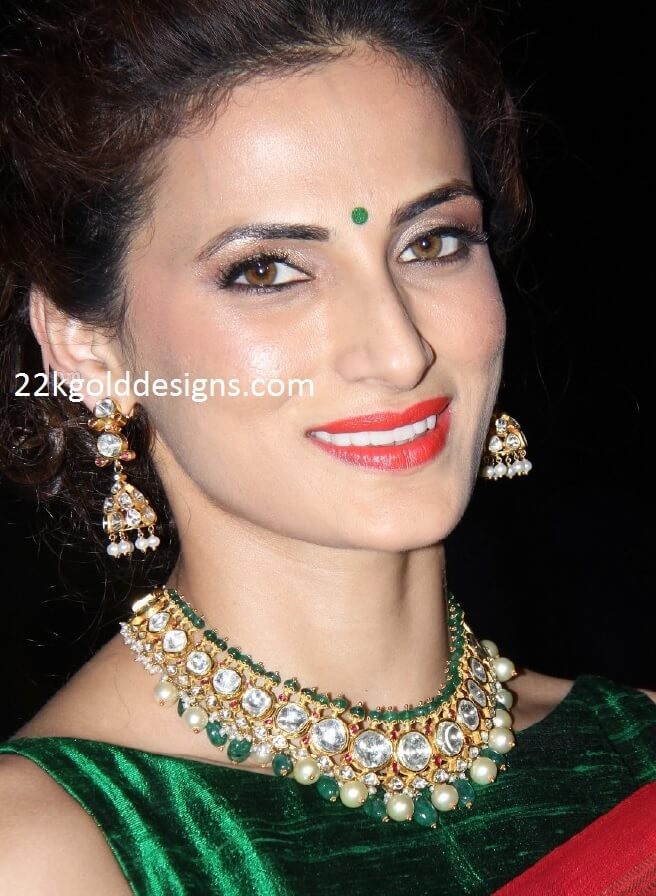 Shilpa Reddy In Polki Diamond Jewellery 22kgolddesigns