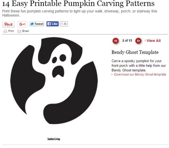 14 Easy Printable Pumpkin Carving Patterns - SouthernLiving.Com