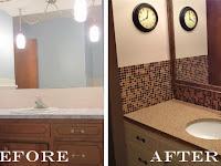 bathroom mirror decorative trim