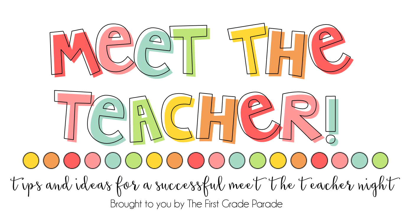 Meet the teacher tips ideas the first grade parade when the kids walk in on meet the teacher night their deskstables are prepped and ready for their arrival deskstables are labeled with names thecheapjerseys Choice Image