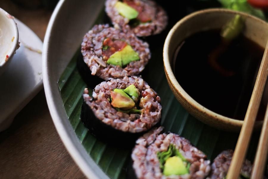 vegan sushi ubud warung sopa