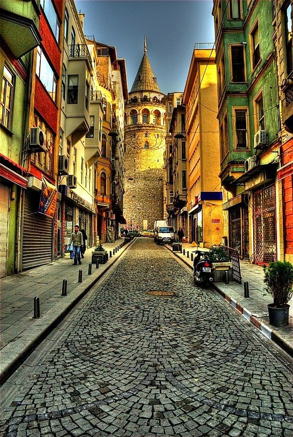 Beautiful Buildings & Street In Istanbul