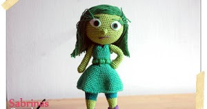 Inside Out Amigurumi Patterns : 2000 Free Amigurumi Patterns: Disgust - from the Disney ...