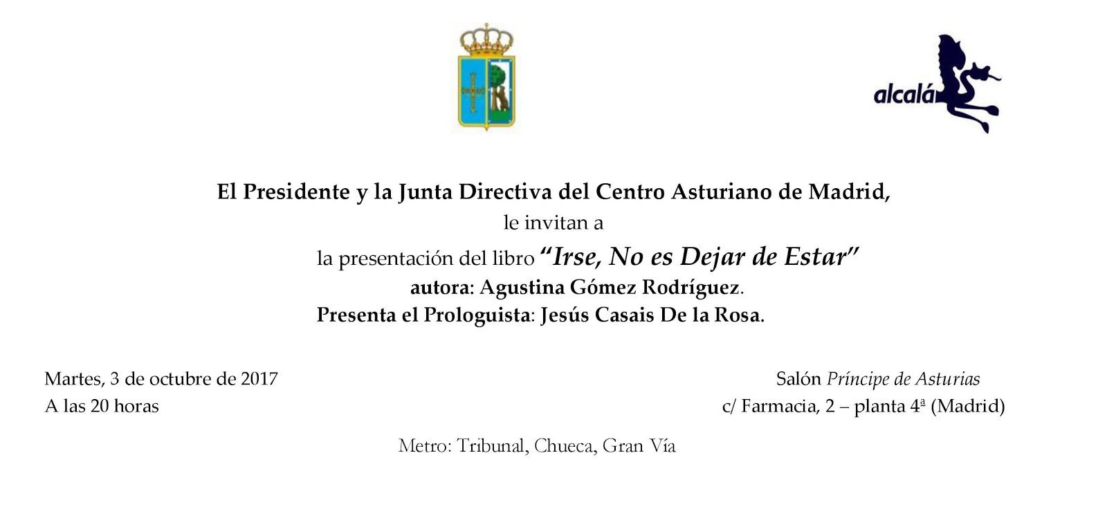 Presentación en Centro Asturiano, Madrid