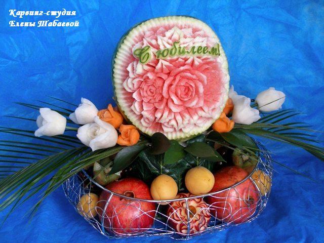 фруктовая корзина с цветами заказать в южно-сахалинске