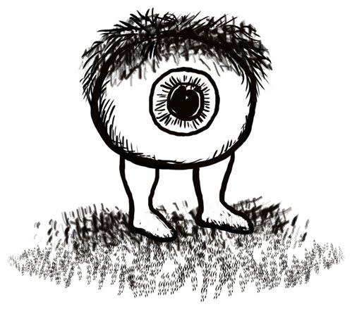 The hairy eyeball