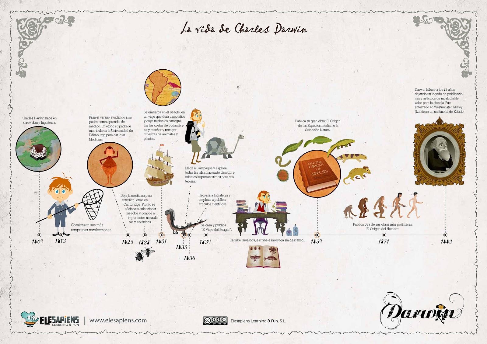 tierra de dinosaurios infograf 237 as sobre la vida de darwin