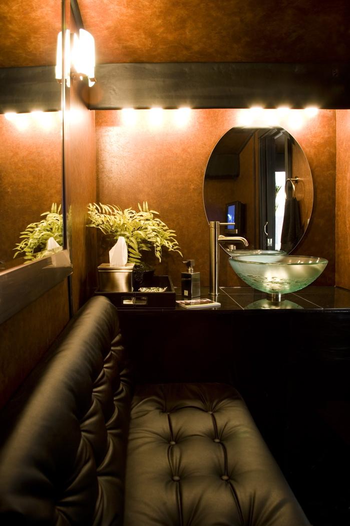 Charter bus bathroom