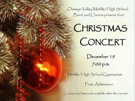 12-19 Christmas Concert Oswayo Valley