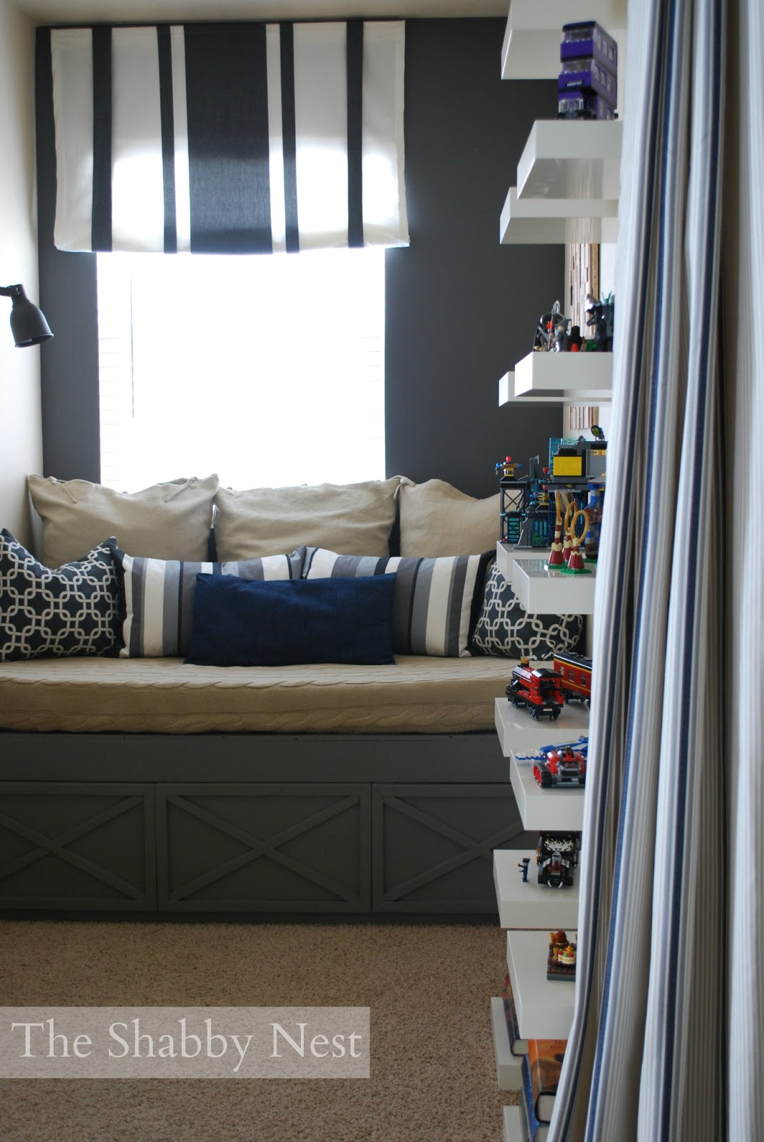 Loft Bedroom Privacy The Shabby Nest Loft Bedroom Reveal