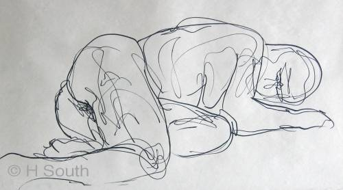 Line Drawing Figure : Art l continuous line drawing