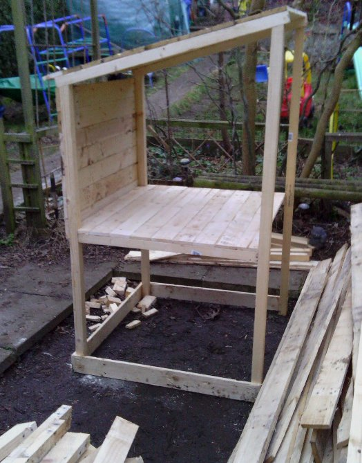 cosy designs for chicken houses. A basic frame work with pallet cladding  The Shed And Beyond Chicken coop from a pile of pallets