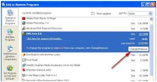 Cara Uninstal / remove program (aplikasi) di windows
