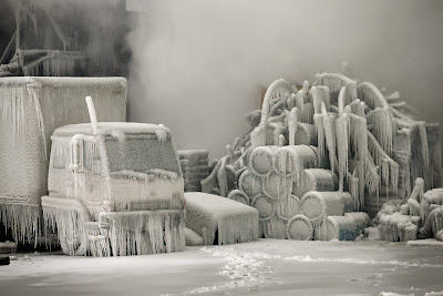 Weather, Ice, Blaze, Chicago, China, Fire, Firefighters, Freezing, Condition, Warehouse, Illinois, Temperature, Truck, Asia, News, Winter, Ice,