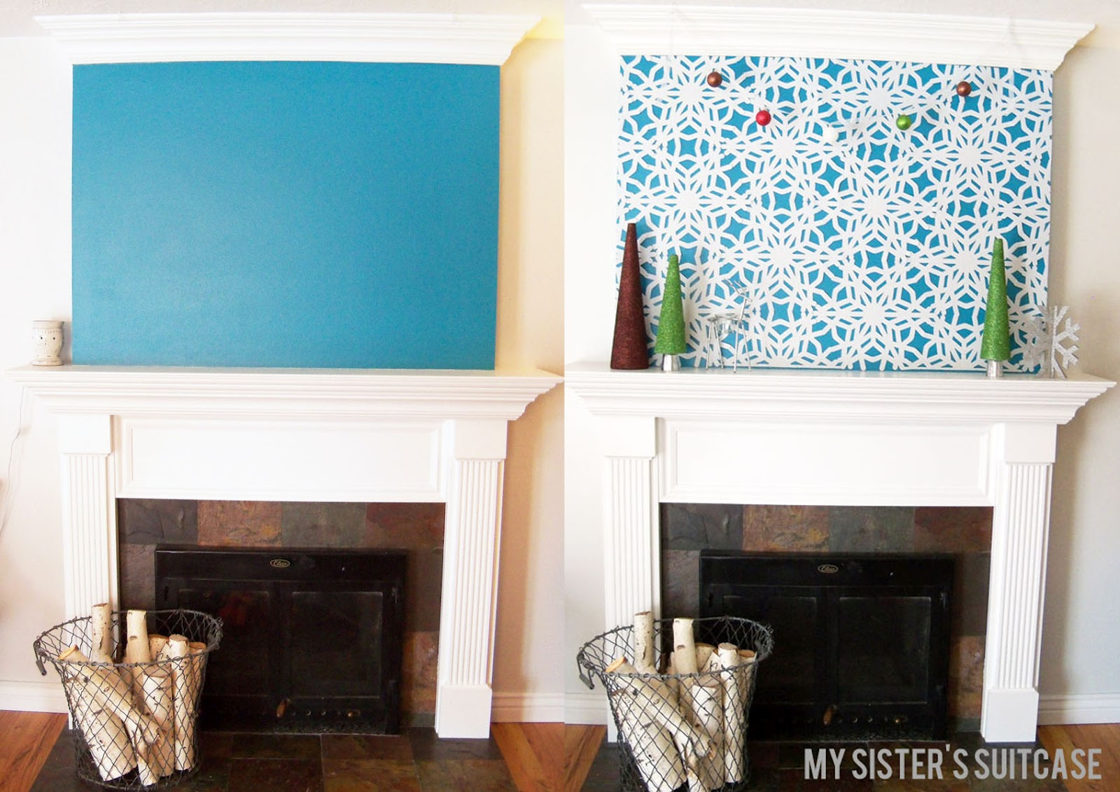 Snowflake mantel for Blogs for home decor