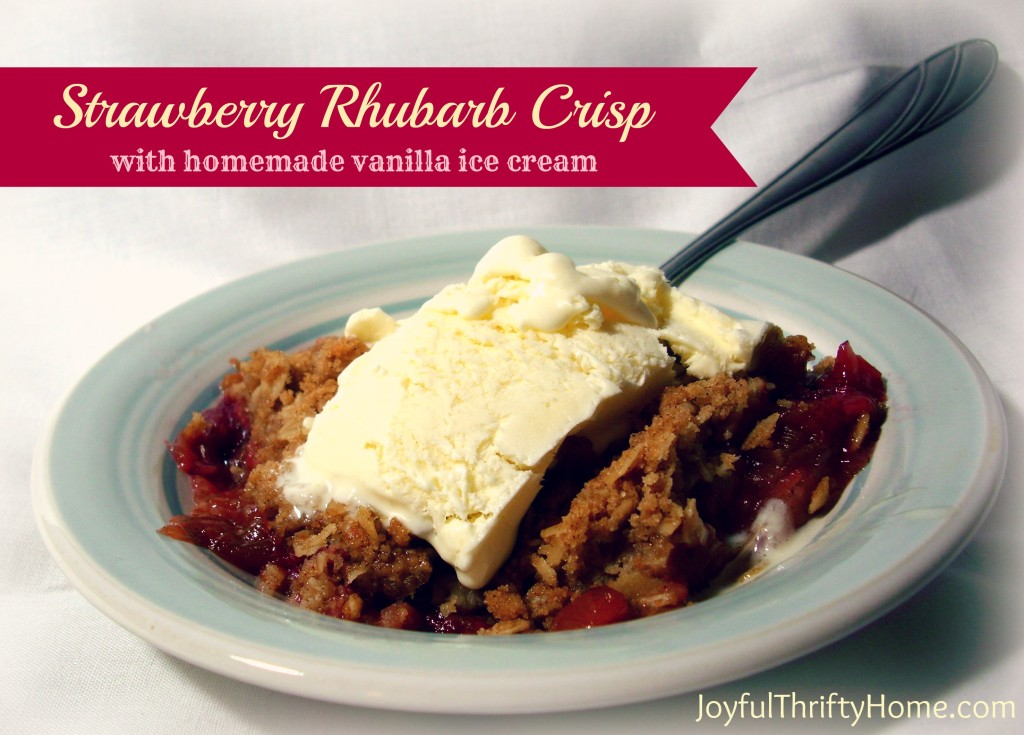 Strawberry Rhubarb Crisp by Joyful Thrify Home