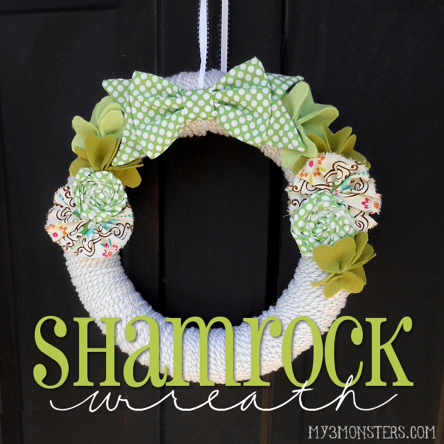 St. Patrick's Day Shamrock Wreath at my3monsters.com
