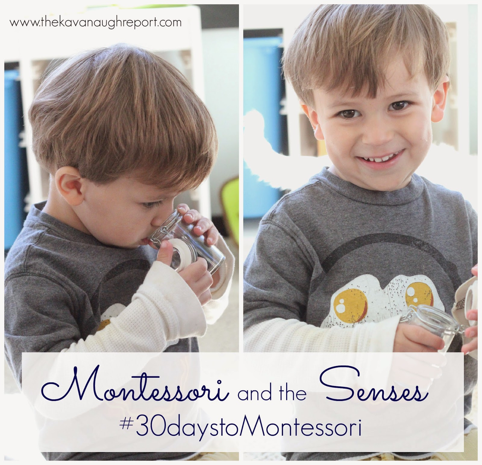 Montessori and the Senses: Simple Ideas to Isolate the Senses as Part of the #30daystoMontessori Challenge.