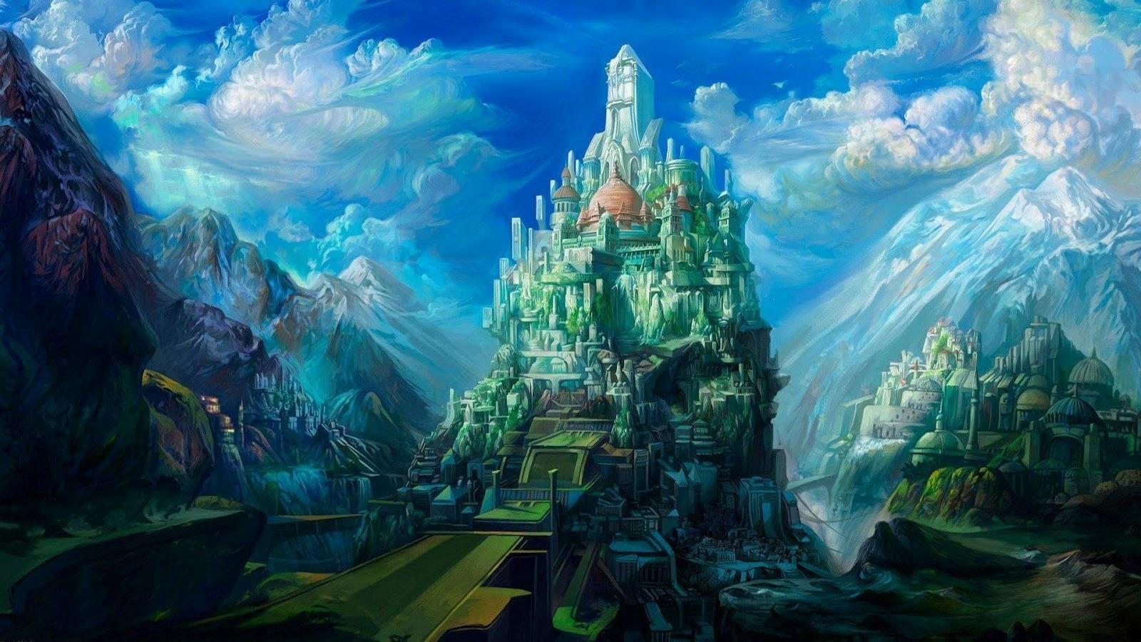 3D Fantasy Castles Wallpaper