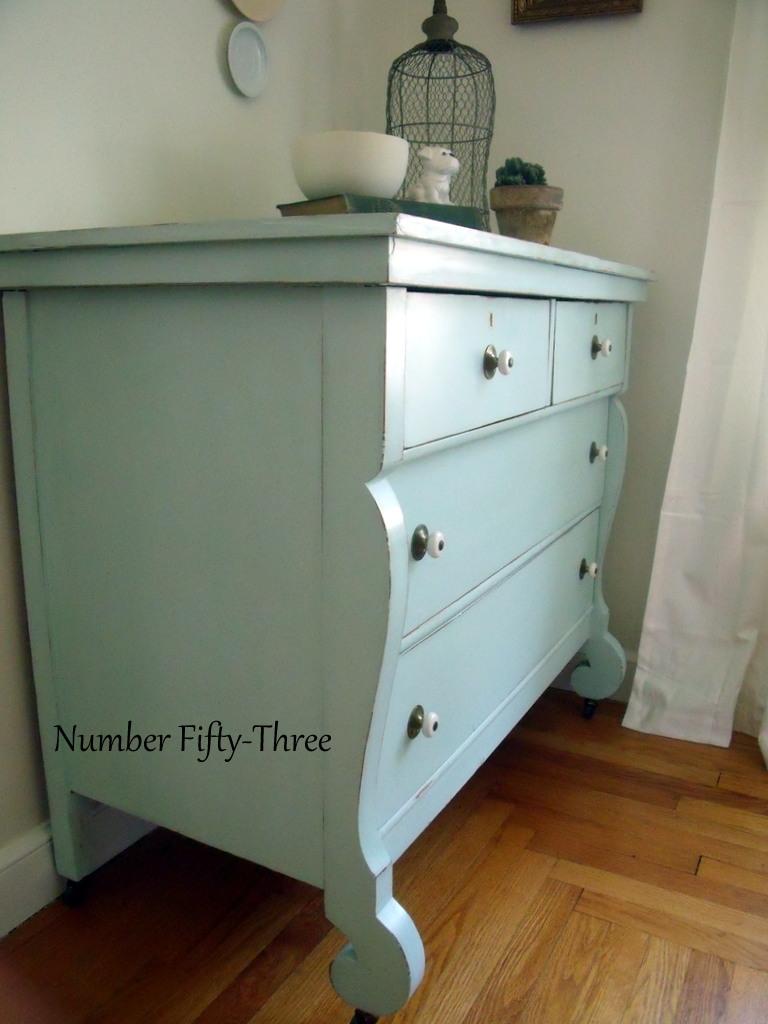 Vintage Aqua Dresser
