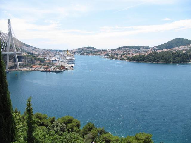 Dubrovnik desde el norte, Dubrovnik desde la altura, Costa Cruceros en Dubrovnik, puerto de Dubrovnik, Puente Franjo Tudjman