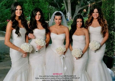 Full look at the Vera Wang princess style dress Kim wore at her wedding