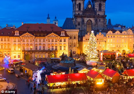 The Christmas market in Old Town Square Prague