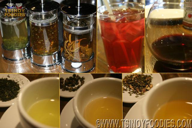 gyokuro, jasmine dragon pearl, fruit tisanes and red wine