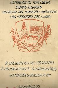 TERCER ENCUENTRO DE CRONISTAS E HISTORIADORES