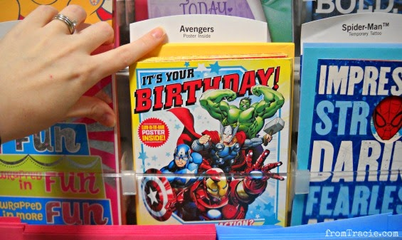 Hallmark Avengers Card With Glow In Dark Poster