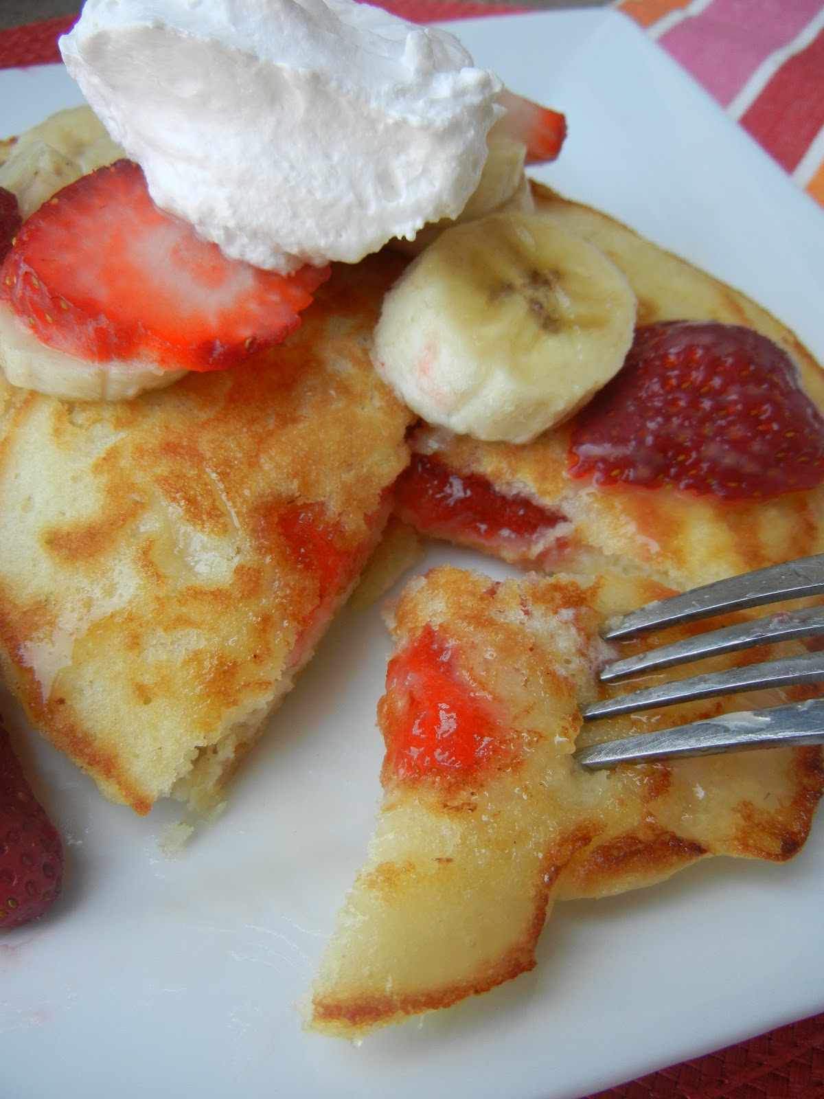 Strawberry Buttermilk Pancakes With Nutella Syrup Recipe ...