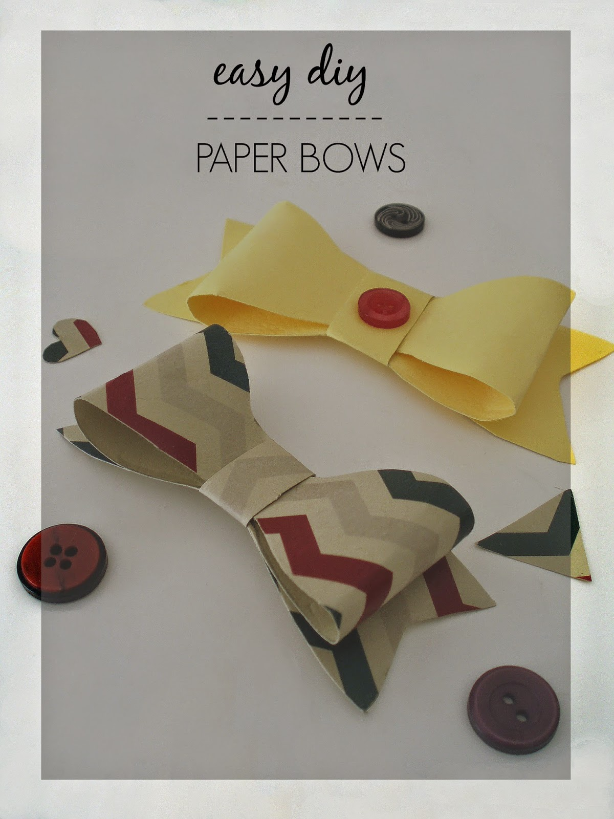 easy diy paper bows