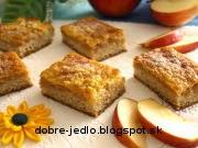 Jablkové rezy so šľahačkou - recept