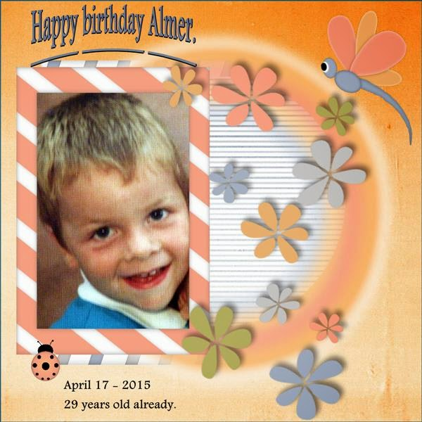 April 2015 - page 2 -  Happy birthday Almer