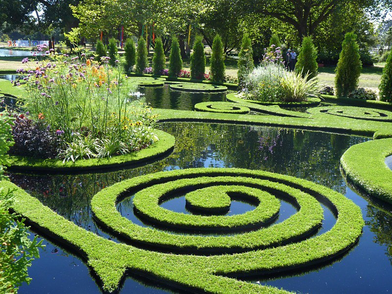 The garden floating fantasy for New zealand garden designs ideas